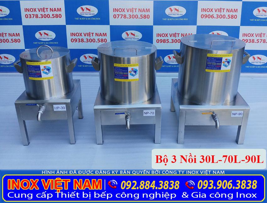 Bộ nồi điện nấu phở công nghiệp 30L - 70L - 90L
