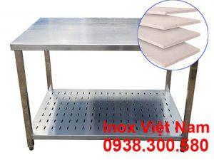 bàn chặt inox có lót cemboard tăng cứng chống ồn