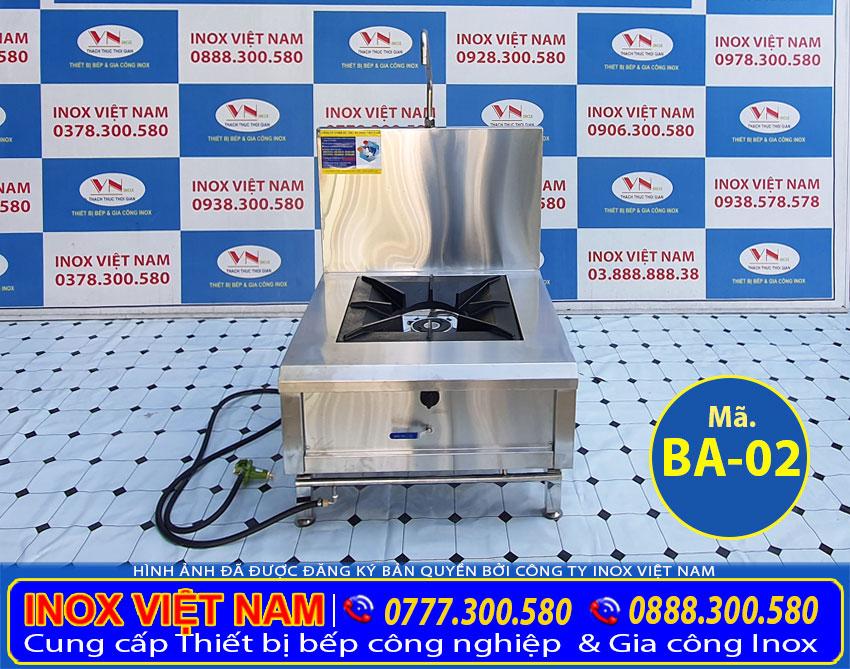 Thiết bị bếp công nghiệp, bếp công nghiệp mẫu: Bếp hầm đơn có gáy, bếp á hầm đơn giá tốt tại Inox Việt Nam.