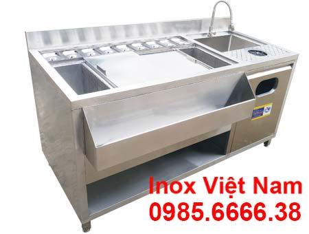 mẫu quầy pha chế inox 1m6