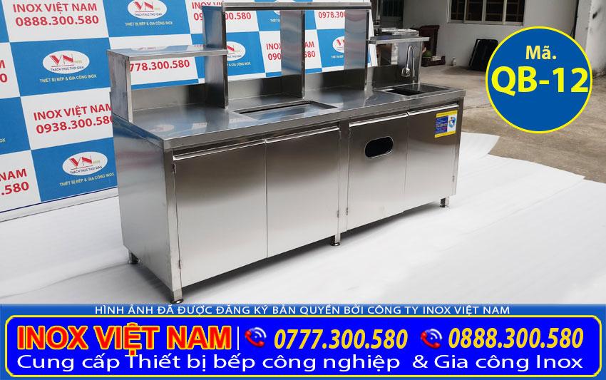 mẫu quầy bar inox 2m QB-12