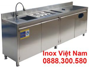 mẫu quầy bar inox 2m3 QB-13