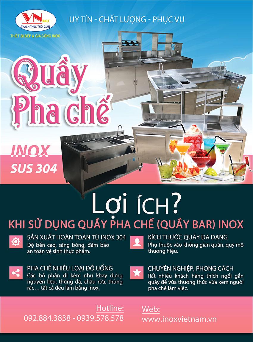 quầy bar Inox Việt Nam