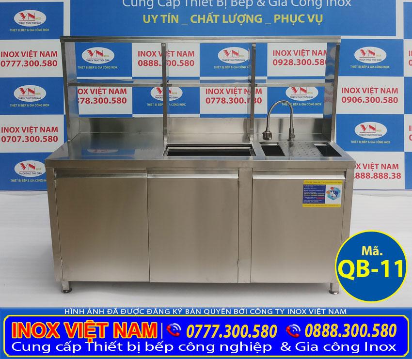 Quầy bar trà sữa inox BQ-11