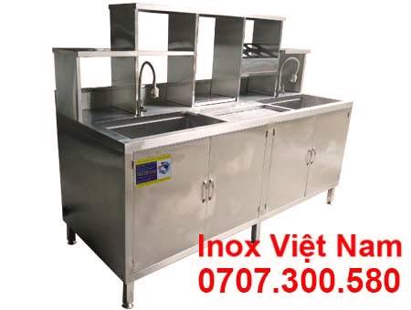 quầy pha chế cafe inox QB-04