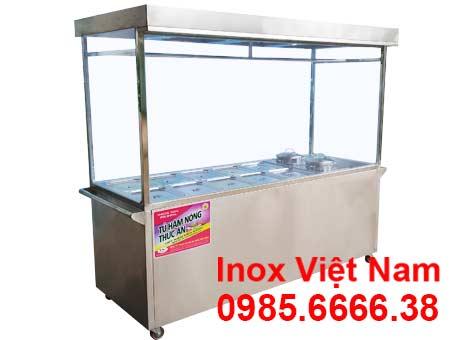 Tủ bán cơm hâm nóng 10 khay 2 nồi TH-13N