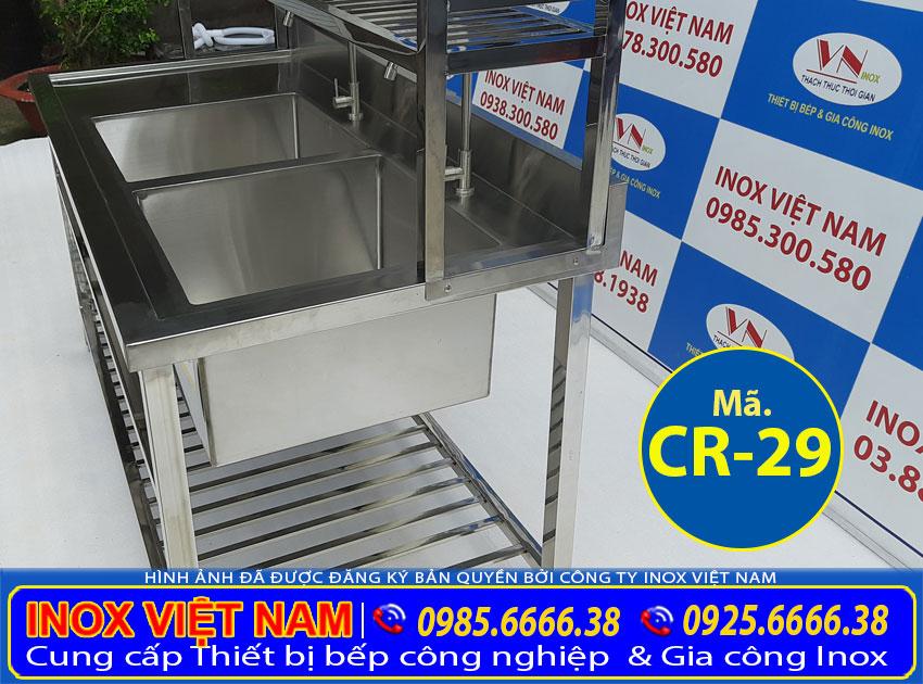Báo giá bồn rửa chén 2 ngăn lớn CR-29