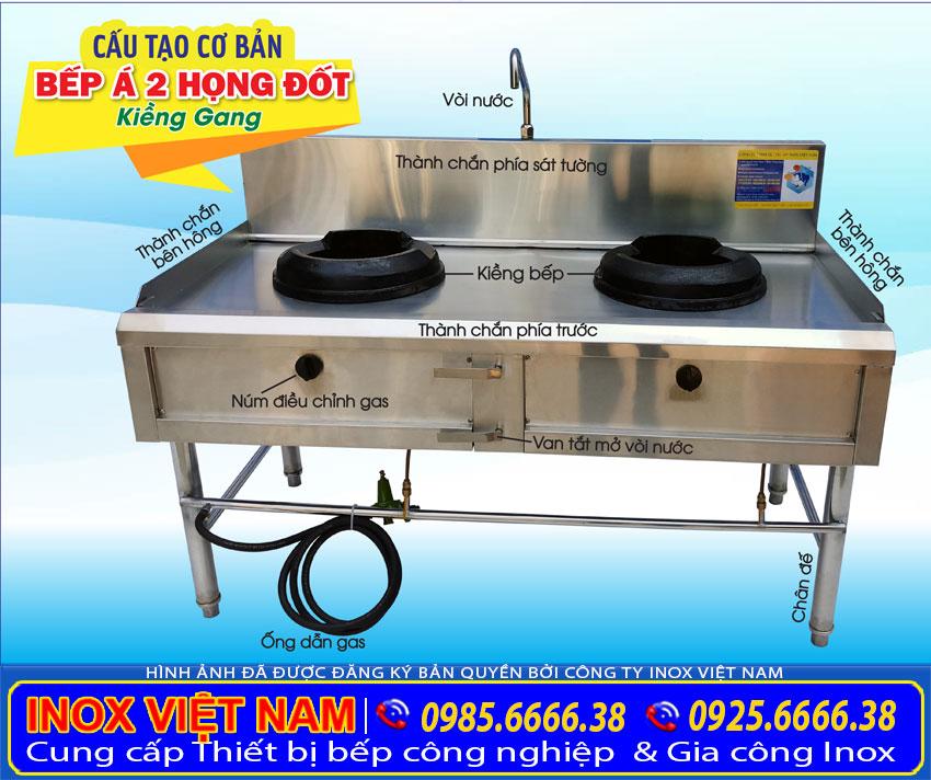 Cấu tạo của Bếp xào công nghiệp | thiết bị bếp công nghiệp inox 304