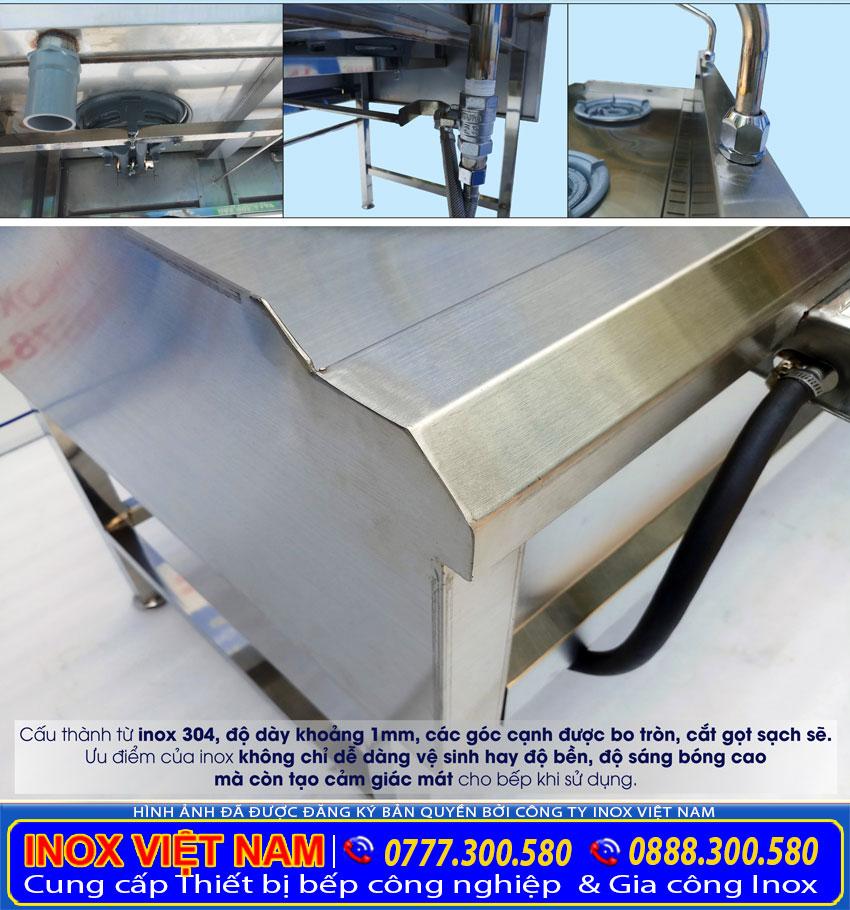 Chất liệu sản xuất thiết bị bếp công nghiệp nhà hàng
