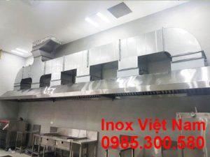 Chụp hút mùi bếp inox công nghiệp dài 10M