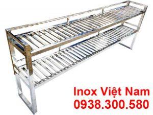 Kệ bếp inox 2 tầng trên bàn KEI-14
