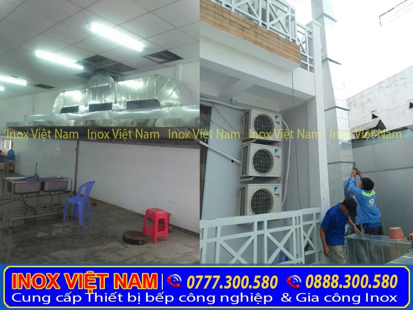 Lắp đặt hệ thống ống hút khói inox công nghiệp