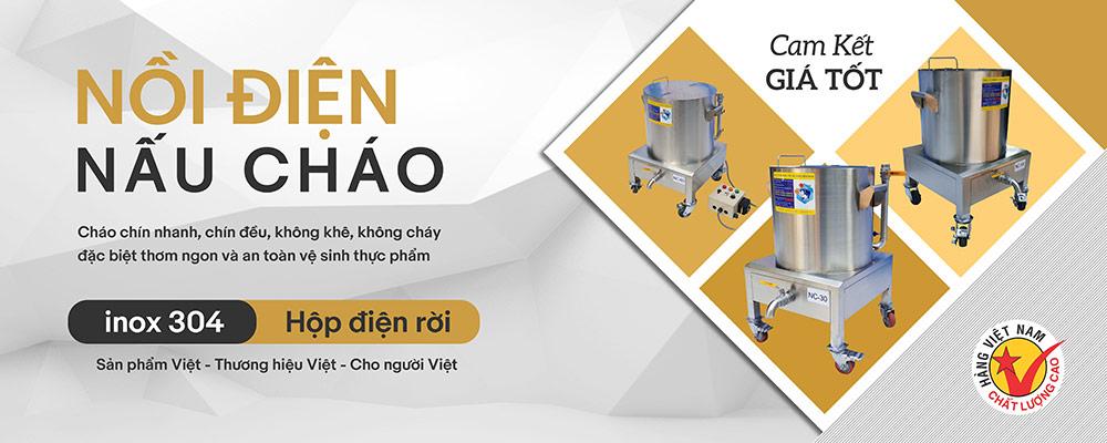 Nồi nấu cháo bằng điện Inox Việt Nam