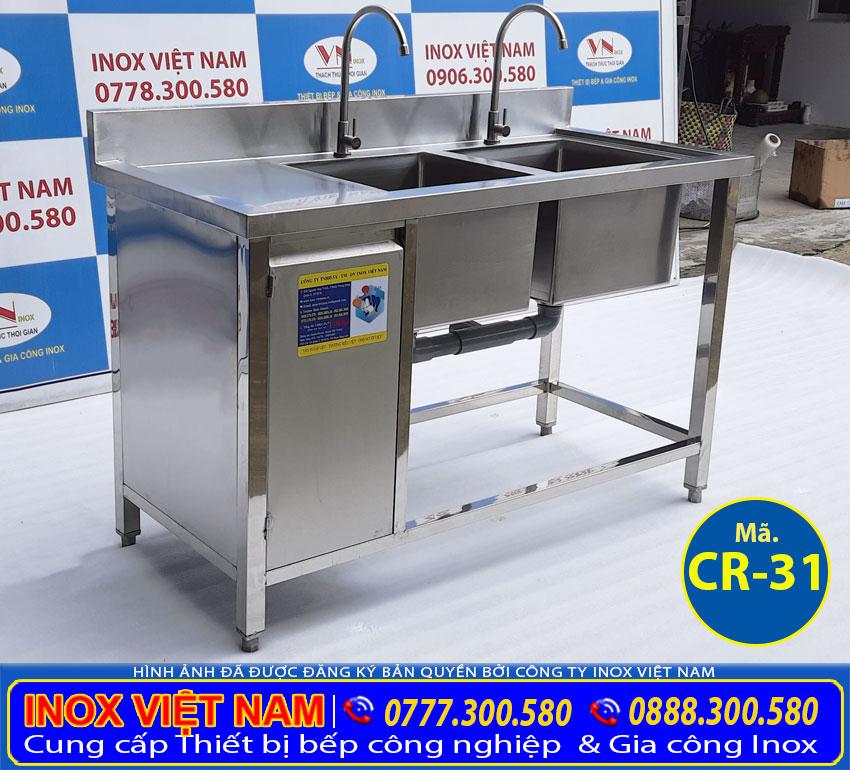 Tủ bồn rửa chén inox 304 CR-31