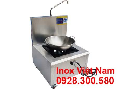 Bộ bếp chiên công nghiệp và chảo chiên công nghiệp inox 304 dùng gas