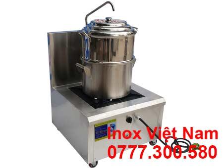 Bộ bếp và nồi hấp inox công nghiệp bằng gas