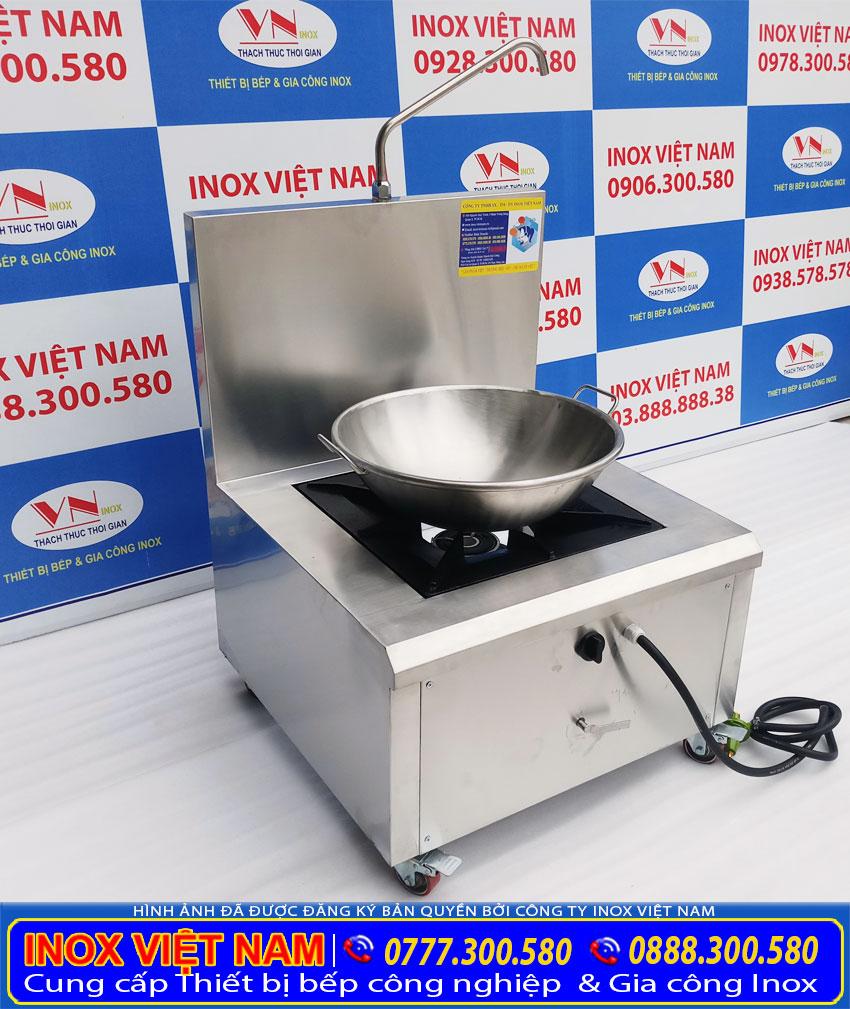 Bộ chảo chiên công nghiệp inox 304 và bếp chiên công nghiệp bằng gas