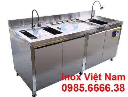 Quầy bar trà sữa inox 2m QB-23