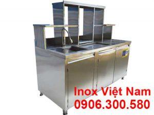 quầy pha chế cafe inox 1m6 qb-18