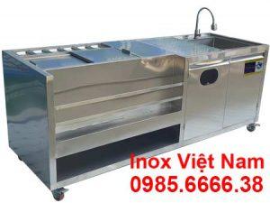 Quầy trà sữa inox 2m QB-22