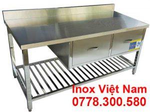 Bàn bếp inox có 2 hộc tủ BAI-21
