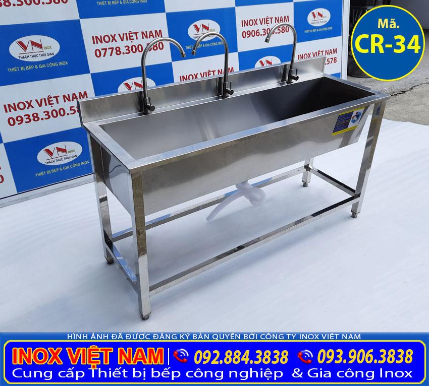 máng rửa tay trường học inox 304 CR-34