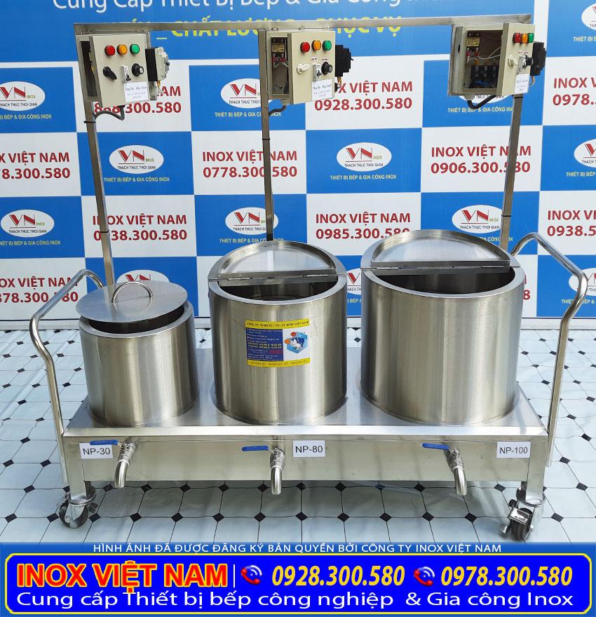 bộ nồi nấu phở bằng điện 30L - 80L - 100L