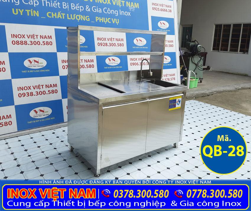 mẫu quầy bar inox mini QB-28