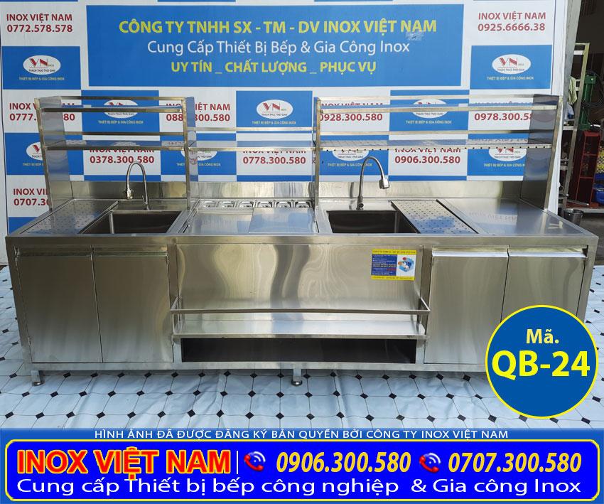 mẫu quầy pha chế trà sữa đẹp QB-24