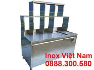 quầy pha chế inox trà sữa QB-27
