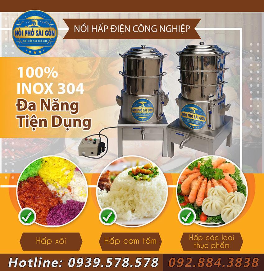 nồi hấp cơm tấm điện công nghiệp Inox Việt Nam