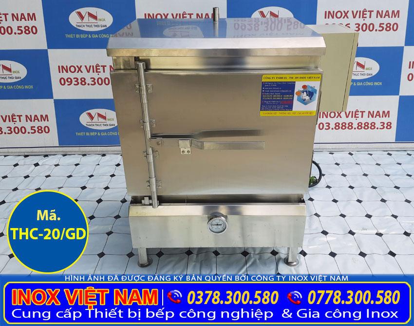 tủ cơm công nghiệp 20 kg bằng điện và gas