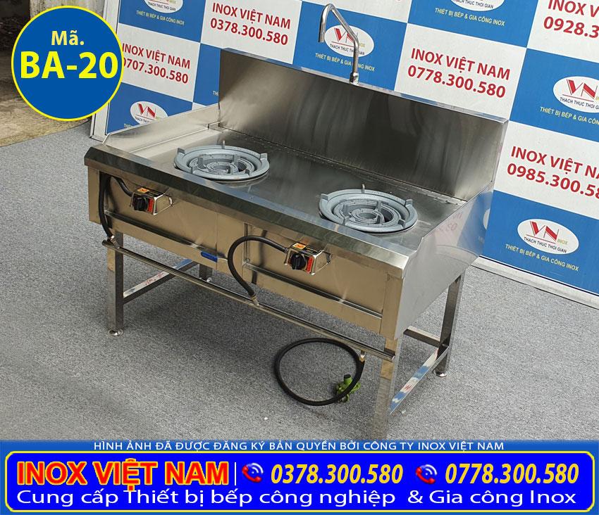 Giá bán bếp 2 họng công nghiệp BA-20 | liên hệ: 092.884.3838