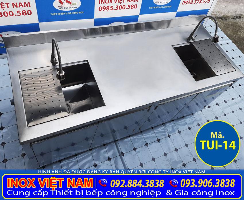 Tủ bồn rửa chén bát inox 304 TUI-14