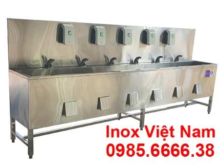 giá máng rửa tay inox công nghiệp