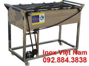 Lò nướng than inox 4 xiên tự động quay LN-12