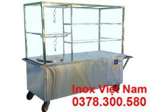 Xe bán phở có nồi nấu nước lèo bằng điện 60L XBP-04