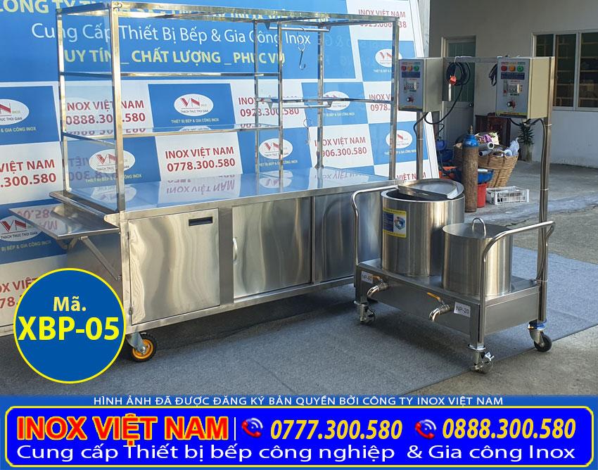 Xe bán phở và bộ 2 nôi nấu nước lèo 20L-60L