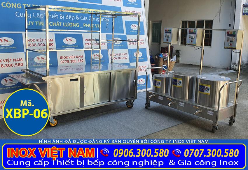 Xe bán phở và bộ 3 nồi nấu nước phở 20-50-70L